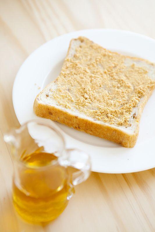 きな粉トースト蜂蜜かけ
